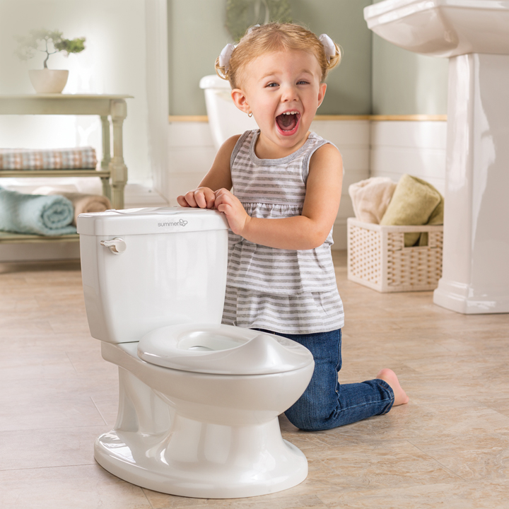 Infant Potty Toilet Training Loo Flush Sound Flip Seat Easy Clean Kids Toilet UK
