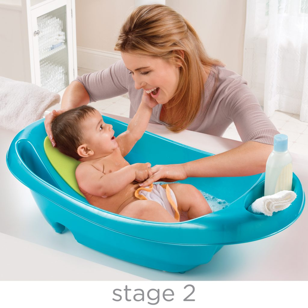 SPLISH N\' SPLASH NEWBORN-TO-TODDLER BATH TUB BLUE - Summer Infant ...