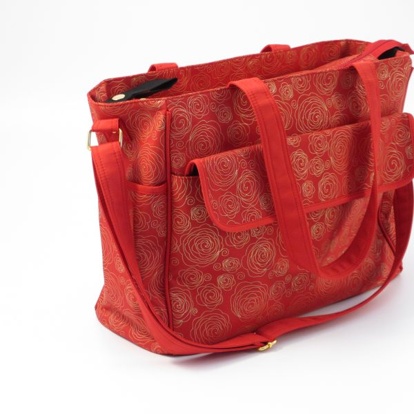 c1e90e5e2f8df CHANGING BAG RED & GOLD SWIRL £10. TOTE CHANGING BAG CHARCOAL ...